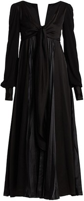 J.W.Anderson Pleated Satin Knotted Dress