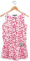 Lili Gaufrette Girls' Floral Bow-Accented Romper