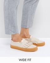 Asos DAPHNE Wide Fit Ruffle Loafer Sneaker