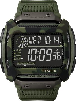 Timex Command(TM) Shock Digital Silicone Strap Watch, 54mm