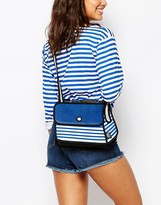 JumpFromPaper Cross Body Bag in Navy Stripe