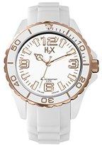 Haurex H2X Women's SW382DWR Reef Stones Luminous Water Resistant White Soft Rubber Watch