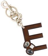 Gucci Metallic Jewel-Embellished Keychain