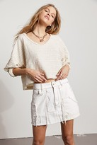 We The Free Lost Highway Mini Skirt by at Free People, Highway White, 25