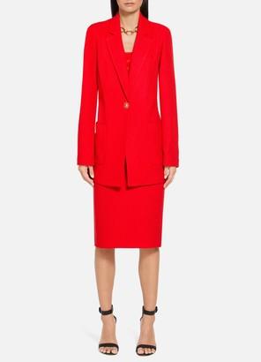 St. John Diagonal Knitted Twill Jacket