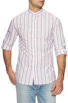 Michael Bastian Printed Band Collar Dress Shirt