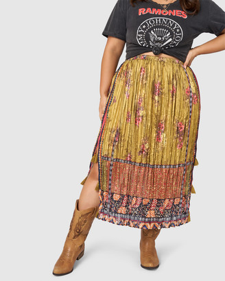 The Poetic Gypsy Tribal Love Midi Skirt