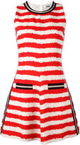 MSGM striped flared dress - women - Cotton/Linen/Flax/Polyamide/Viscose - 44