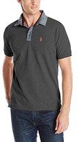 U.S. Polo Assn. Men's Solid Slim Fit Stretch Pique Polo Shirt