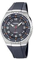 Calypso Men's Quartz Watch with Grey Dial Analogue Display and Grey Plastic Strap K6063/1