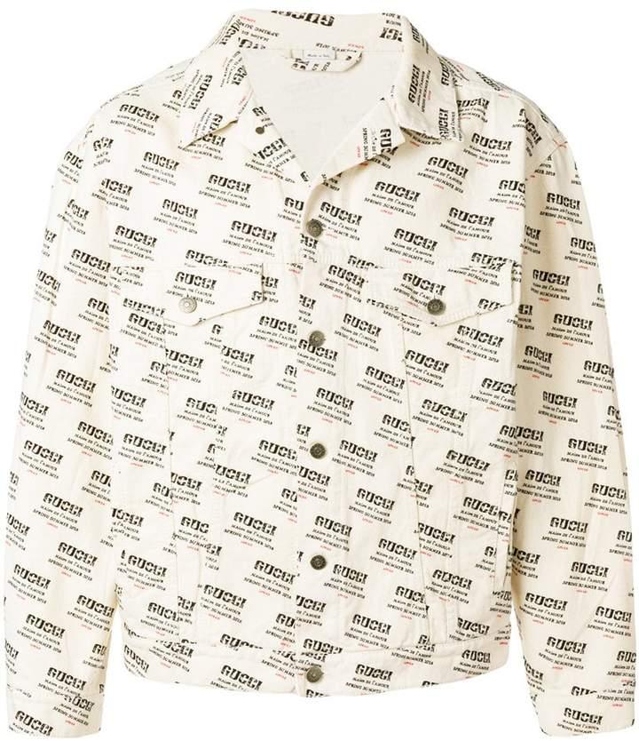 Gucci stamp denim jacket