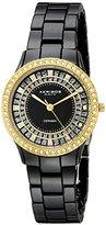 Akribos XXIV Women's AK509BKG Slim Ceramic Watch with Triple-Link Bracelet