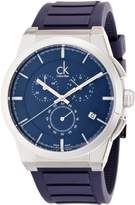 Calvin Klein Men's 'Dart' Swiss Quartz Stainless Steel and Rubber Casual Watch, Color: (Model: K2S371VN)