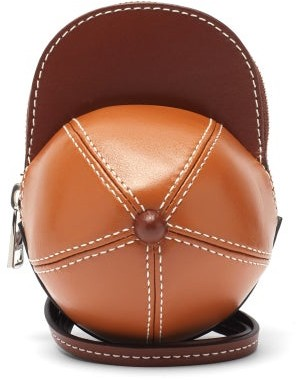 J.W.Anderson Nano Cap Leather Cross-body Bag - Tan
