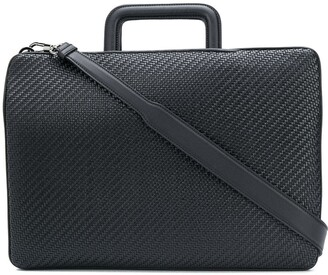 Ermenegildo Zegna Woven Leather Briefcase