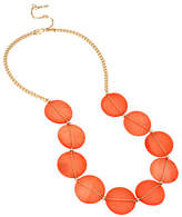 Kenneth Cole New York Orange Shell Shell Disc Frontal Necklace