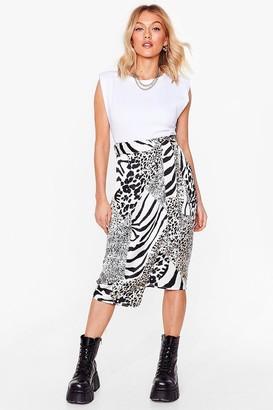 Nasty Gal Womens Guess Our Spirit Animal Petite Midi Skirt - White