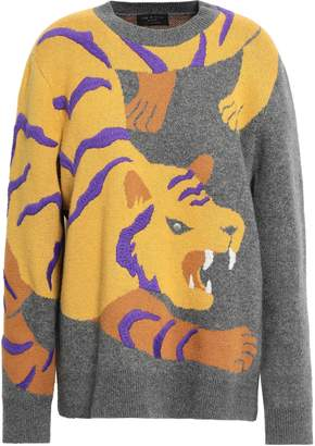 Rag & Bone Embellished Intarsia Cashmere Sweater
