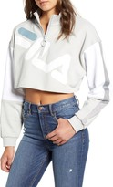 Fila Kaia Quarter Zip Crop Sweatshirt
