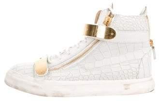 Giuseppe Zanotti Embossed High-Top Sneakers