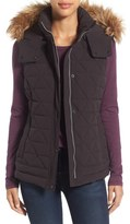 Andrew Marc 'Thea' Removable Faux Fur Collar Quilted Down Vest
