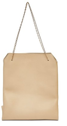 The Row Lunch Leather Clutch Bag - Womens - Cream