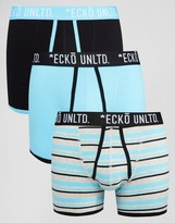 Ecko 3 Pack Trunks Blue Set