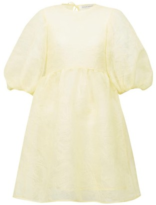 Cecilie Bahnsen Mabel Puff-sleeve Laddered-organza Dress - Yellow