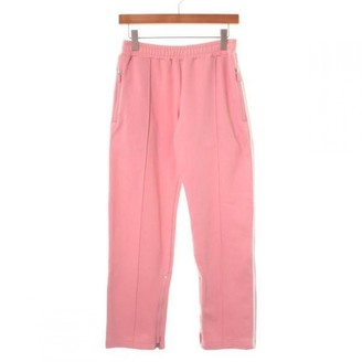 Y-3 Pink Cotton Trousers for Women