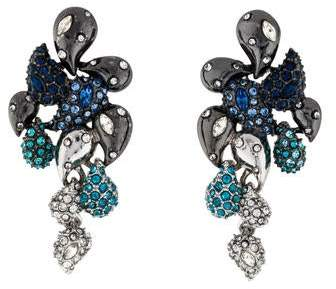Alexis Bittar Crystal Encrusted Ombré Paisley Post Earrings