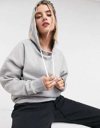 Reebok Training oversized hoodie in grey with back logo