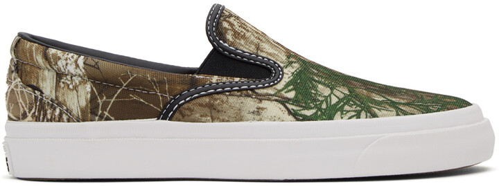 Thumbnail for your product : Converse Khaki & Brown Real Tree One Star CC Pro Slip-On Sneakers