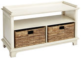 Pier 1 Imports Holtom Antique White Storage Bench with Baskets