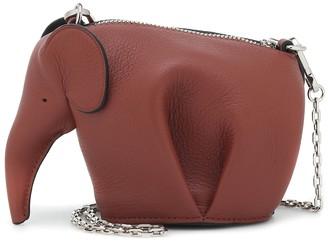 Loewe Elephant Nano leather clutch