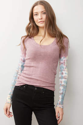 Free People Big Sur Long Sleeve Tee Purple XS