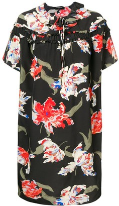 Rochas Floral Print Shift Dress