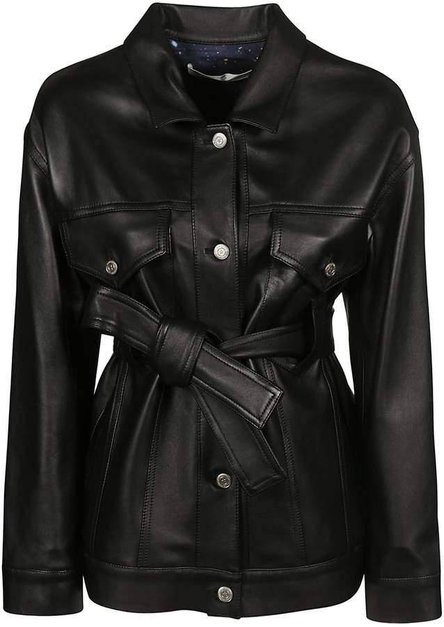 Golden Goose Belted Leather Jacket