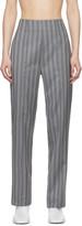 Acne Studios Grey Wool Pinstripe Trousers
