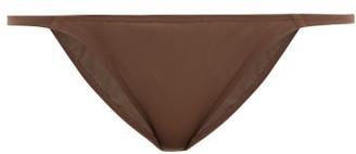 ASCENO Biarritz Low-rise Tanga Bikini Briefs - Brown