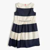 J.Crew Girls' sateen rugby-striped dress