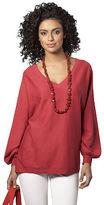 Oversize Cotton V-Neck Sweater