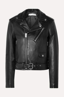 IRO Viktor Leather Biker Jacket - Black