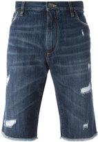 Dolce & Gabbana distressed denim shorts