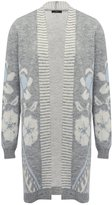 M&Co Longline floral jacquard cardigan