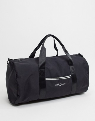 Fred Perry sports twill barrel bag in black