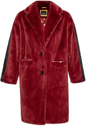 Sedel Faux Fur Notch Collar Coat