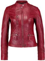 Oakwood Leather jacket dark red