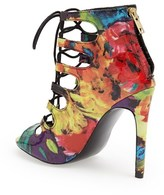 Steve Madden 'Cythiaa' Floral Print Lace-Up Sandal (Women)