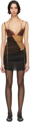 Nensi Dojaka SSENSE Exclusive Black and Brown Silk 1 Dress