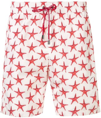 Dolce & Gabbana Star Fish Print Swim Shorts